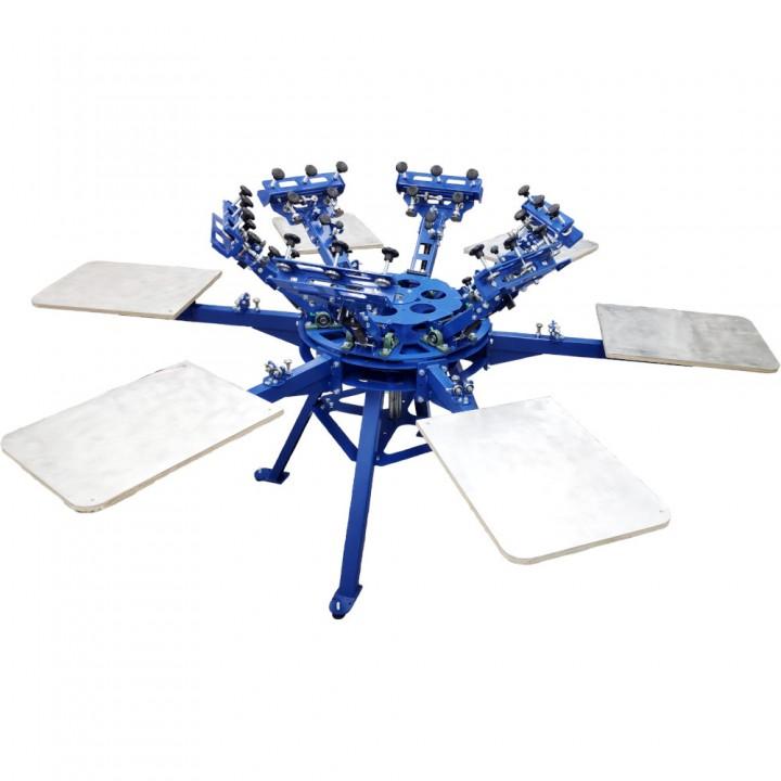 Карусель для трафаретной печати 6x6 с микро доводками HSP6-6x6-ET