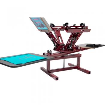 Карусель для трафаретной печати 2 стола 4 рамы HSP2-2x4-ET